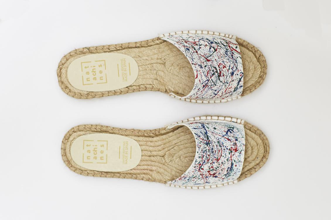 sandalias para mujer diseñadas a pinceladas