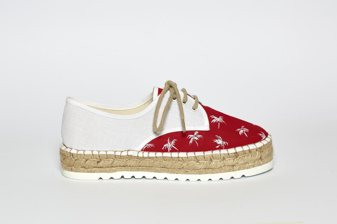 zapatillas de mujer con cordones y palmeras