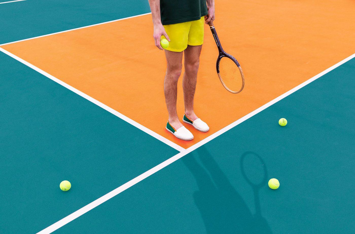 Alpargatas de rayas estilo tenis